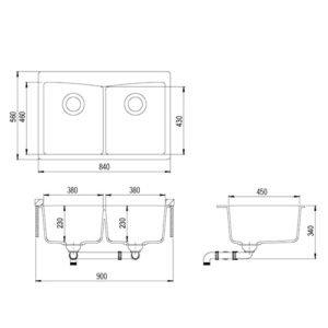Схема Aquasanita Arca SQA210